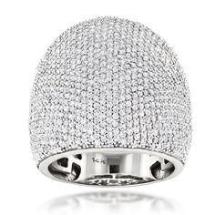 14K Gold Pave Diamond Ring 3.25ct