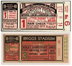1940 Baseball Championship Game Tickets, Ohio and MI