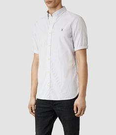 Mens Pin Redondo Half Sleeved Shirt (Light Grey) - product_image_alt_text_2