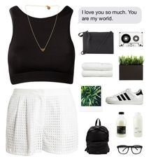 """we won't be sleeping / tags"" by cottonisth ❤ liked on Polyvore featuring adidas Originals, 3.1 Phillip Lim, xO Design, KEEP ME, Linum Home Textiles, Officine Creative, Davines and SOPHIE by SOPHIE"