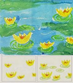 Monet's Water Lilies art project from Art Projects for Kids @ Sweetness and Light