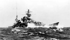 11 in battleship Scharnhorst photographed from sister Gneisenau during Operation Berlin, their commerce raiding cruise in the North Atlantic, February 1941 - many photos of both on this board.  Initially very similar, after modifications during 1939 - 40 they were easy to tell apart as Scharnhorst's mainmast was shipped further aft.