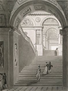 View of the New Staircase in the Museum of Napoleon I