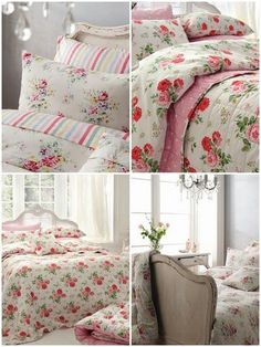 Cath Kidston floral linens that I use in my bedrooms in my cottage