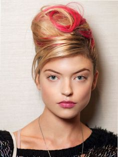 7 Ways to Look Hotter Right Now: Kool-Aid-colored streaks are the new highlights. #beauty