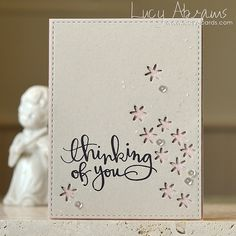 Thinking of You by Lucy Abrams Simon Says Stamp Sending Happy Thoughts card.