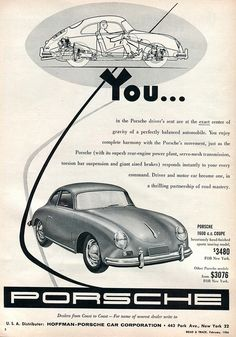 1956 Porsche 1600 Advertisement Road & Track February 1956 | Flickr - Photo Sharing!
