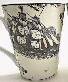 6463ec73a5e I Godlinger Old World Map Coffee Mug Ships Coral Green Brown 14 oz New  #IGodlinger