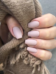 Matte nude gel shellac