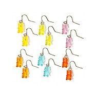Gummy Bears Drop Earrings Set of 6  | Claire's