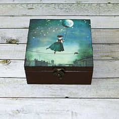 Provazochodkyně Krabi, Decoupage, Decorative Boxes, Create, Handmade, Home Decor, Homemade Home Decor, Hand Made, Craft