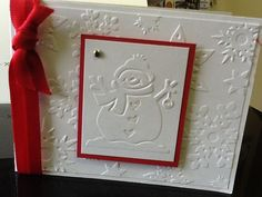 Sizzix Embossing folder CHRISTMAS set of 4, snowman #Darice
