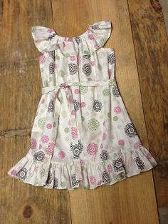 Girls Peasant Dress. Size 6. Ready to Ship. by EverythingSorella, $44.50