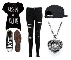 """""""Untitled #112"""" by applejac ❤ liked on Polyvore featuring Rotten Roach, Miss Selfridge and Converse"""