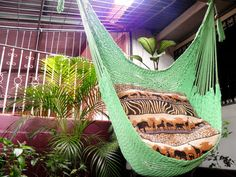Light Green Wonderful  Hanging Chair Hammock Handmade by hamanica