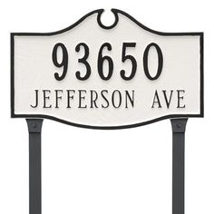 Montague Metal Products Colonial Standard Two Line Address Plaque Finish: White/Silver