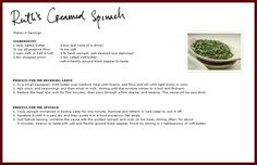 Ruth Chris Steakhouse Creamed Spinach Recipe