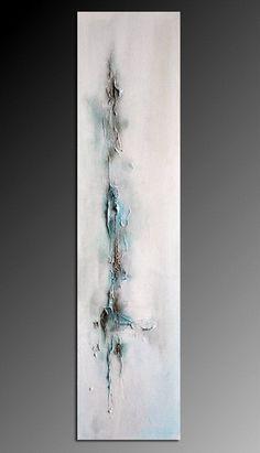 Icicle 2  winter textured original modern abstract von AbstractArtM