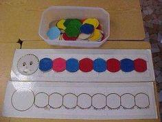 La chenille des couleurs - My Pin Preschool Kindergarten, Preschool Crafts, Infant Activities, Preschool Activities, Chenille, Toddler Learning, Kids And Parenting, Education, Barn