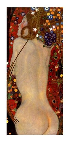 Gustav Klimt Paintings are art nouveau examples of high draughtsmanship and color study. Gustav Klimt, Art Klimt, Art Nouveau, Franz Josef I, Sea Serpent, Art Plastique, Oeuvre D'art, Erotic Art, Love Art