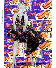 Marilyn Monroe and Libyan chocolate #Marilyn-Monroe #libyan #libya #chocolate #rose #beauty #red #alla-budabbus #ala-bodabose #pop-art #pop-artist #illustrator #illustration