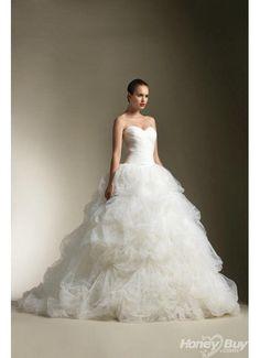 Ball+Gown+Wedding+Dresses | ... > Bridal > Sweetheart Ball Gown White Tiered Wedding Dresses 2013