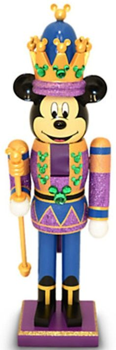 Disney Parks Mickey Mouse Purple King Nutcracker Christmas Holiday