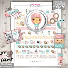 Planner Girl Stickers Planner Stickers Kawaii by YupiYeiPapers