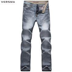 >> Click to Buy << VERSMA Motorcycle Biker Jeans Men Mid Waist Stretch Skinny Jeans Pants Male Slim Denim Jogger Jeans Brand Mens Designer Clothes #Affiliate