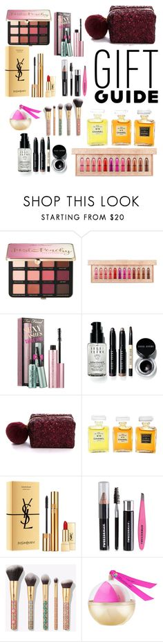 """Gifts For The Beauty Lover"" by amalilly619 ❤ liked on Polyvore featuring beauty, Sephora Collection, MAC Cosmetics, Bobbi Brown Cosmetics, Pinch Provisions, Chanel, Yves Saint Laurent, Tweezerman, tarte and beautyblender"