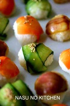Rakuten recipes simple recipe / cooking Search | [colorful vegetables Temari sushi] by kiki-rin
