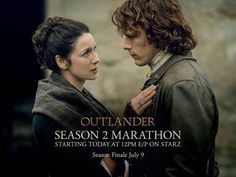 """Outlander Season 2 """"Dragonfly In Amber"""" Jamie & Claire........What a great Birthday I have had, and getting to watch this today was a bonus!"""
