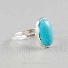 Sterling silver turquoise ring, handmade by BellesBijouxDesigns