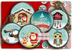 Digital Collage Sheet  Weihnachtsstimmung  von PrintCollage auf Etsy