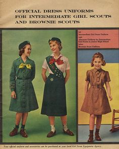 Girl Scout Uniforms - 1956 by terr-bo, via Flickr.  Looks like the ones I wore.