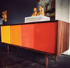 how cool is this colorful cabinet??