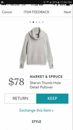 Stylist - love the thumb holes. Market and Spruce Sharon Thumb Hole Detail Pullover please!!! Would be such a closet staple!