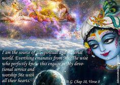Bhagavad Gita Chapter 10 Verse 8.