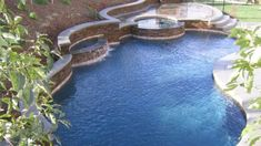 National Pool Design Natural Swimming Pool With Waterfall Within ...
