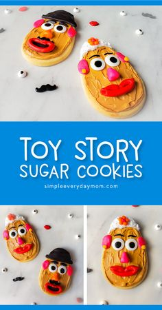 DIY Mr. & Mrs. Potato Head Cookies From Toy Story