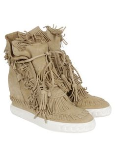 CASADEI Casadei Sand Wedged Booties. #casadei #shoes #boots