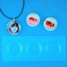 """Create up to three 1-1/8"""" Circle shaped cast pieces at a time. These are plastic molds which are highly polished for a reflective mirror finish - no polishing needed! With proper care, this mold is re"""