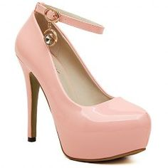 Graceful Patent Leather and Rhinestone Design Women's Pumps