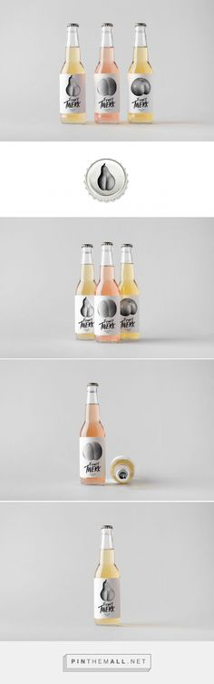 Fruit Twerk Cider student packaging design - http://www.packagingoftheworld.com/2018/02/fruit-twerk-cider.html