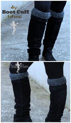 A simple and quick knitted boot cuff tutorial, knock these cuffs out in 45 minutes! Video.