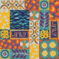 Moira Carter | Make It In Design | Surface Pattern Design | Summer School 2014 | Tribal Collage | Advanced brief