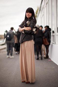 autumn maxi skirt