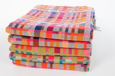 Hand woven blankets from Holly Berry - love the colors!