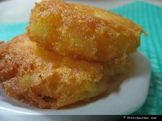 Jamaican Cornmeal & Cheese Cakes - crispy & salty on the outside, creamy on the inside