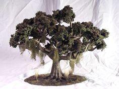 Tutorial: Make a mini tree for indoor fairy garden, diorama, or railroad scenery.
